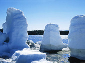 Isformationer vid Torne älv, Lappland