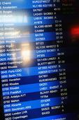 Informationsskylt på flygplats i Sverige