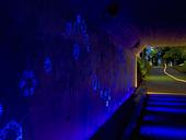 Belyst gångtunnel