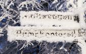 Frostig skylt