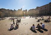 Piazza del Campo i Siena, Italien