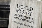 Leopold Mozarts gravsten i Salzburg, Österrike