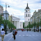 Gamla stan i Vilnius, Litauen