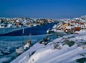 Vinter vid Kyrkesund, Bohuslän
