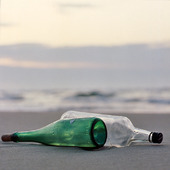 Bottles on the beach