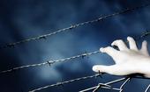 Hand på taggtråd