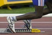 Friidrott, löpare i startblock