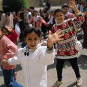 Kristna skolbarn i Kairo, Egypten