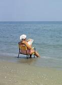 Kvinna på semester