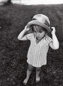 Flicka med hatt