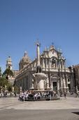 Piazza Duomo i Catania på Sicilien, Italien