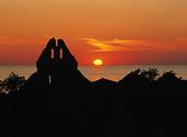 Visby i solnedgång, Gotland