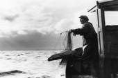 Fiskare på fiskebåt