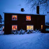 Upplyst villa vintertid