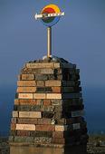 Monument på Nordkappsudde, Norge