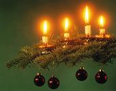 Adventsljus i julgran