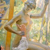 Carl Larson målning på Fürstenbergska Galleriet