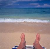 Solbad vid Stilla havet