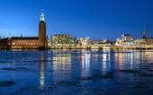 Stockholm i vinterskymning