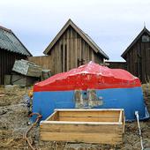 Vinterupplagd fritidsbåt
