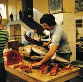 Fiskmarknad på Madeira, Portugal
