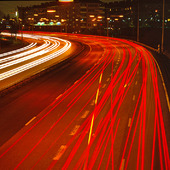 Motortrafikled med kvällstrafik