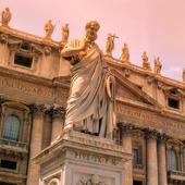 Petrus vid Peterskyrkan i Rom, Italien