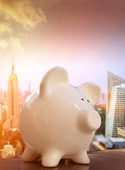 Piggybank i New york