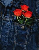 Rosor i jeansjacka