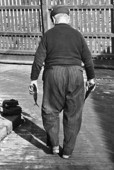 Man i Göteborgs Fiskhamn, 1960 talet
