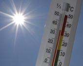 Solen och termometer