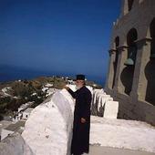 Grekisk munk på Patmos, Grekland