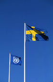 FN-flaggan och Svenska flaggan
