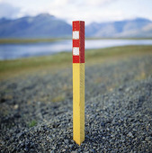 Road marking, Iceland