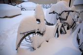 Översnöade cyklar