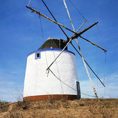 Väderkvarn i Portugal