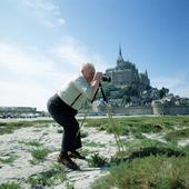 Fotograf vid Saint-Malo, Frankrike