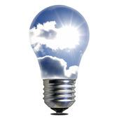 Glödlampa med solenergi