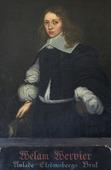 Porträtt av Welam Wervier på Strömsbergs herrgård, Uppland