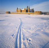 Kalmar Castle in winter, Småland