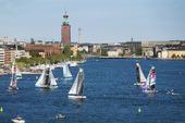 Segelbåtar på Riddarfjärden, Stockholm