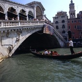 Rialtobron i Venedig, Italien