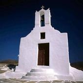 Kyrka på Ios, Grekland