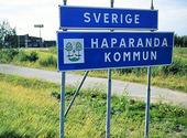 Gränsen till Finland vid Haparanda