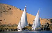 Segelbåtar på Nilen, Egypten