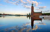 Stockholms stadshus, tidig morgon