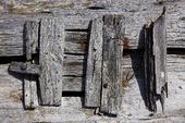 Gammal träkonstruktion