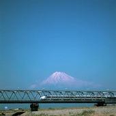Tåg vid Fujiberget , Japan