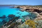 Blå lagunen på ön Comino, Malta