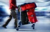 Resenär med väskor